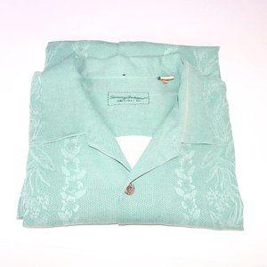 Tommy Bahama Mint Green 100% Silk Shirt
